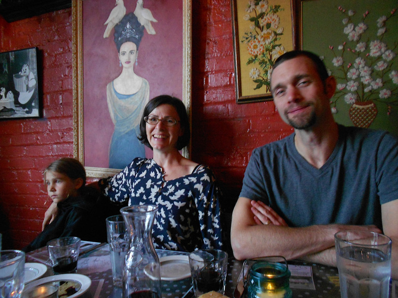 The Waltmunsons took us out for dinner on our last night to Bizarro Italian Cafe