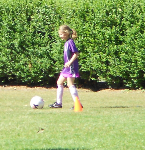 She made a goal--good ball handling skills!