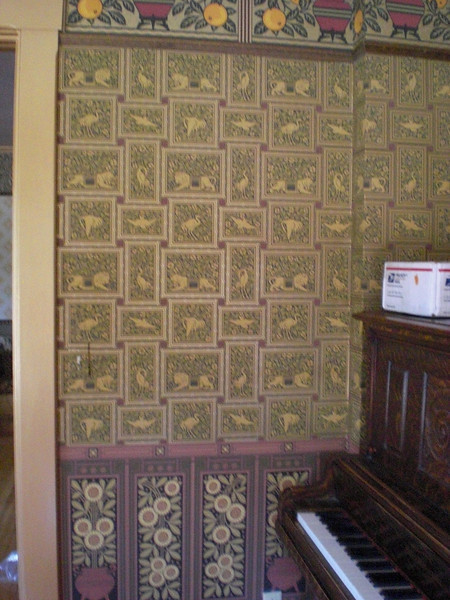 The rooms are beautifully wallpapered and painted...