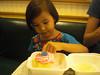 Josie chose pink frosting cupcake