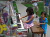 Art and music exhibits were all over the area--decorated pianos that anyone can play...