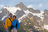 First night in the Mt. Baker National Forest, Mt. Shuksan in the background.
