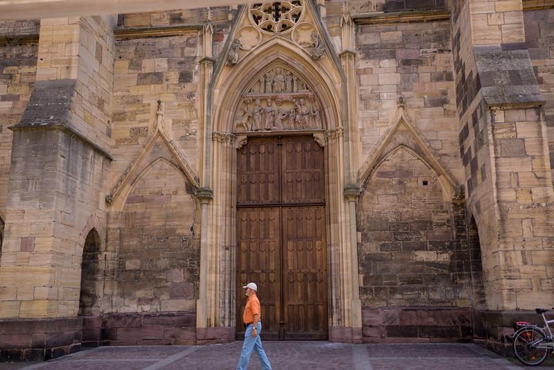 Central door of Colmar Cathedral