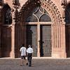 The front door of the Basel Muenster