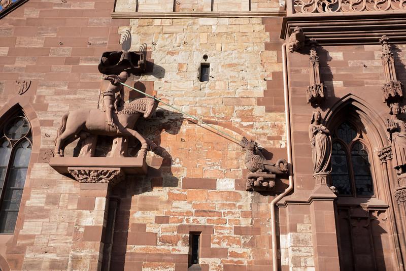 St. George slaying the dragon.