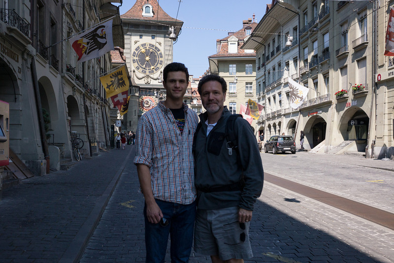on the astoundingly empty streets of Bern.
