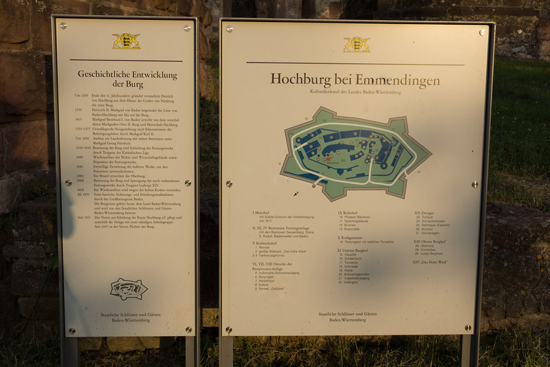 The Hochburg Ruin is only about 15 minutes north of Freiburg, near Emmendingen. There were 350 soldiers housed here when the fortress was in at its prime.