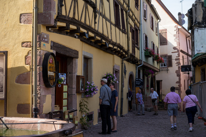 Riquewihr, France, looking down into what would have been the Jewish Quarter.