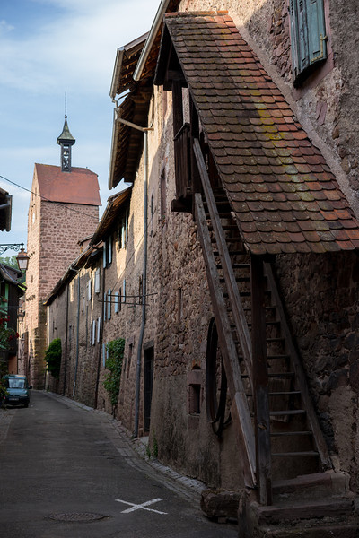 Riquewihr, France, this is the outside wall of the city, but it also includes housing, which were part of the Jewish Quarter.