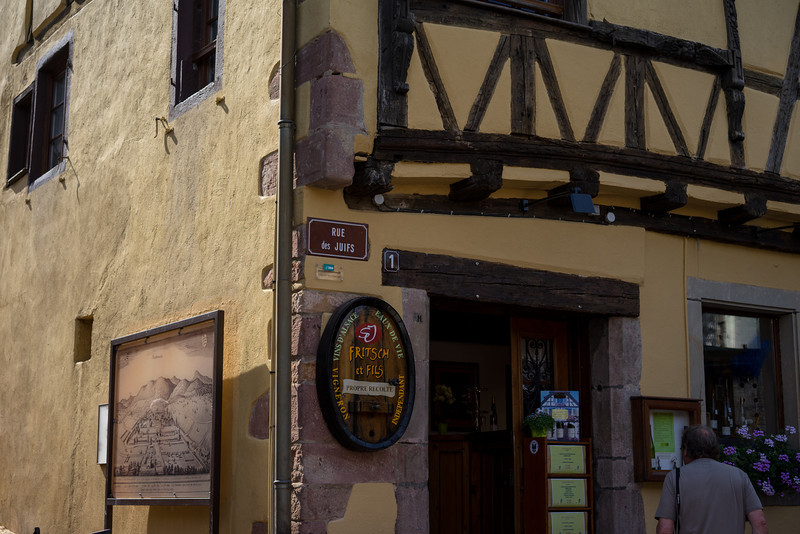 Riquewihr, France. I suppose I should have been surprised to find a Jewish quarter in a town of this size, but we also found one in Ribeauville (see the gallery, A Day in Alsace).  As expected, the Jewish quarter will be by the city wall, or sometimes a cathedral area. Here is is precisely on the original fortification of the city.