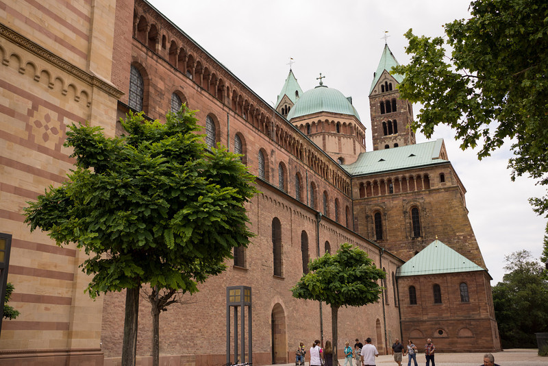 The Speyer Dom is the largest Romanesque structure north of Italy. The building was commenced in the 11th century.