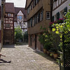 """Probably, this single """"dead end"""" area, which has a stream for the miqveh which was found in the basement of one of the houses, was the main section housing Jews in Tuebingen."""