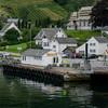 The town of Utne on the Hardangerfjord