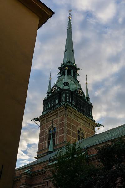 German Church steeple.