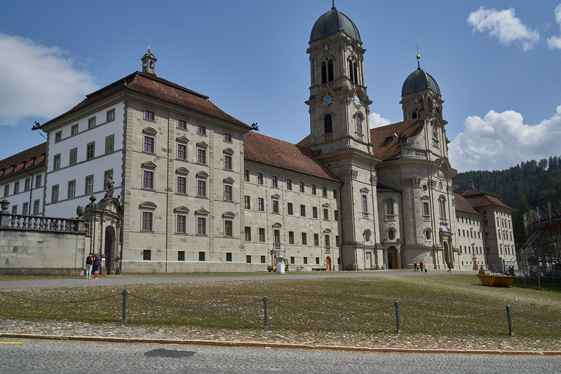 Einsiedeln. I managed just two shots inside this spectacular baroque cloister before some one came running over to tell me photography was forbidden...alas.  But the concert hall--yes the monastery has a concert hall--was also charming, as the following images show.