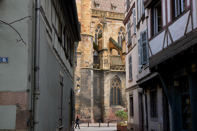 """Not """"Switzerland,"""" but Colmar, France, which I visited with Elisha in 2014, but the museum which houses the Isenheim Altar was being renovated. Now beautifully restored, with a controversial addition (by architects Herzog and DeMeuron of Basel), with cavernous space, but not much """"sense."""""""