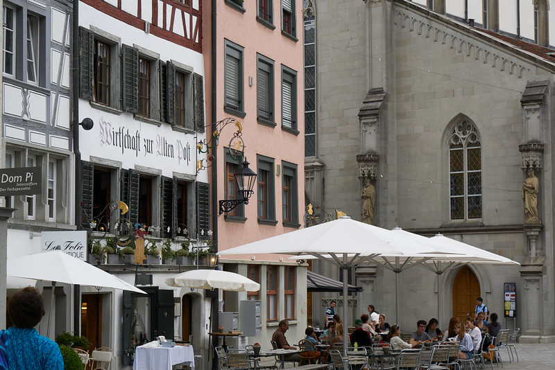 Some images of St. Gallen's Altstadt. Here they permitted photography in the cathedral, but not in the amazing baroque library. The town itself boasts some beautfiul 15th and 16th century structures.
