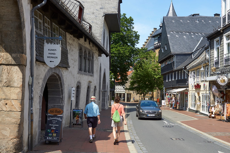 UNESCO town of Goslar, with about 1800 pre-1650 structures still lived and worked in.