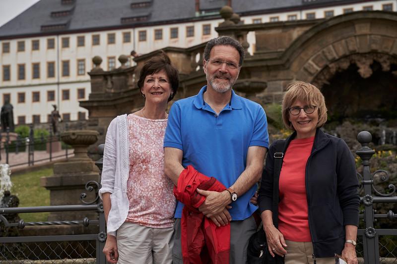 in Gotha, with Friedenstein in the background