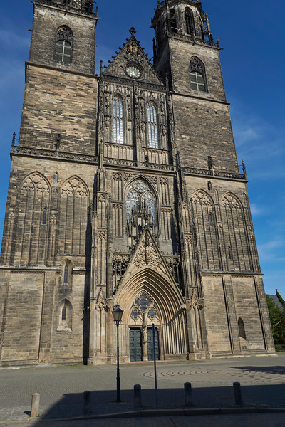 Magdeburg Cathedral. Despite the fact that the city was flattened during WWII, the cathedral survived fully intact.