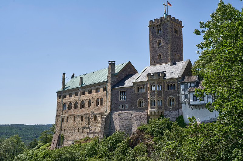 Schloss Wartburg, where Luther translated the New Testament into German.