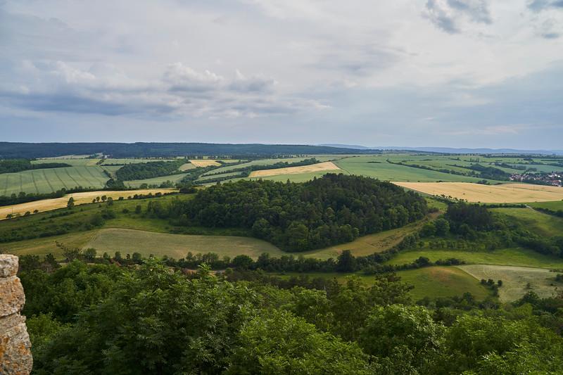 From Schloss Wachsenburg  south of Apfelstaedt.