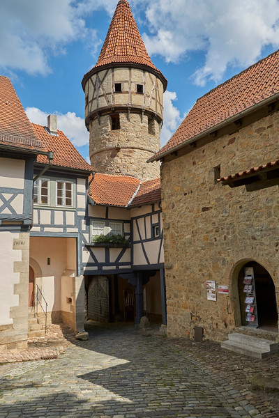 Ostheim, the largest Church fortress in Germany, built during the first decades of the 1600s. St. Michael's Church at the center of the compound was finished in 1619. Also, for 400 years, organs have been built in this small town. And now there's a museum about organ construction.