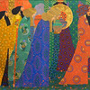 "Vittorio Zecchin (1878-1947) was a painter, graphic designer, designer of glass, furniture and ceramics. The visionary Italian artist did not begin his artistic career until he was over thirty years of age. He had originally abandoned his ambitions at the age of twenty-three, when, disillusioned with the narrow, unimaginative style of teaching at the Venetian Academy of Fine Arts and convinced that nobody would listen to his ideas, he left in 1901 and became a civil servant in Murano. Zecchin remained at his municipal desk for eight long years, until 1909, by which time the first whisperings of a new artistic movement in Venice had become strong enough to persuade him that there was a place for him in the creative world. Unable to contain his creative powers any longer, Zecchin joined a group of artists, who influenced by the idea of Klimt and Toorop, had pooled their ideas and began to exhibit at the Ca'Pesaro, the Museum of Modern Art, between 1908 and 1920. [Information from Belinda Schneider, Pinterest, <a href=""https://www.pinterest.ca/portfauxlioinc/vittorio-zecchin/"">https://www.pinterest.ca/portfauxlioinc/vittorio-zecchin/</a>]"