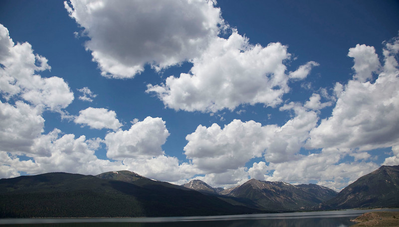 Great Sky at Twin Lakes, ascending to Independence Pass from the east.