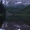 Maroon Bells at the end of the day. The highest peak here is 14,156ft.