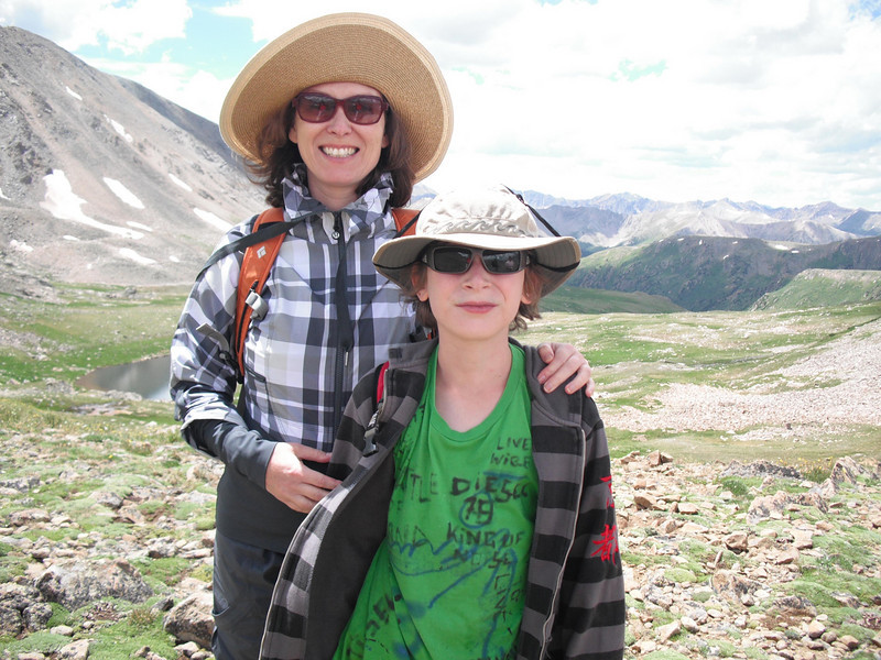 Sophia & Emanuel Farhi, looking southward on Lost Man Trail.