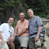 (l-r) the three brothers, David, Jonathan, Richard, at Weller Lake, Colorado, July 2010.