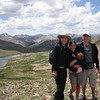 Yuni, Sofie, and Noah, looking southward over Independence Lake, on Lost Man Trail. July 25, 2010.