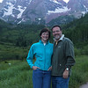 Maroon Bells in the background.