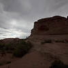 Walking toward Delicate Arch