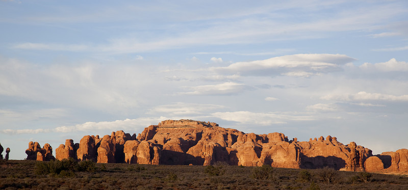 """This is a section of what is called """"The Windows"""" formation in Arches."""