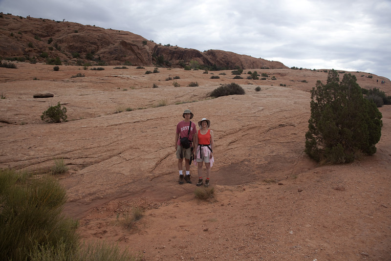 On the ascent to Delicate Arch