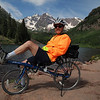 At Maroon Bells Lake--by recumbent bicycle, July 5, 2011.