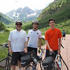 July 28, 2011, the very last ride for this season...we three rode to Maroon Bells. It was Joshua's first time; Elisha's second time this season; it was David's ninth ride up the little hill this July.