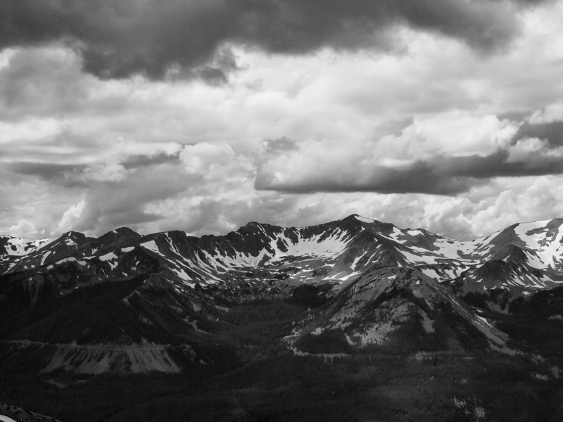 Most of this hike was at the edge of a storm, with spectacular cloud formations...as seen here.