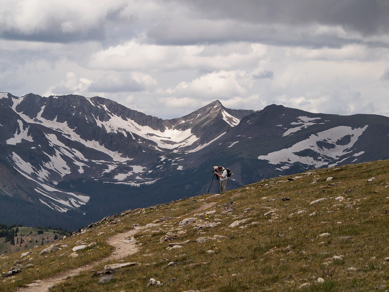 Continental Divide Trail from Milner Pass toward Mount Ida.