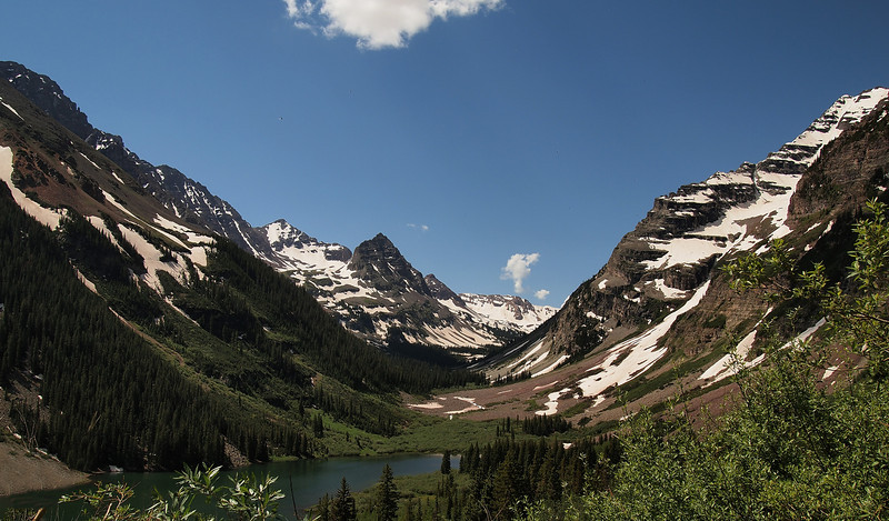 Here is a view of Crater Lake as we ascend away from the lake toward Buckskin Pass.