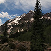 Approaching Crater Lake, with Maroon Bells above.