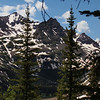 As you are ascending toward Buckskin Pass, these are the views that one catches between the trees.