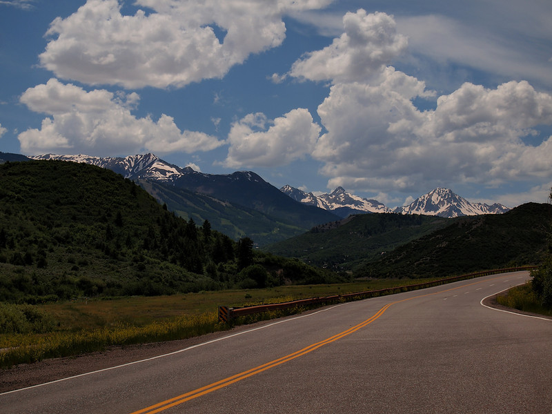 When you turn off Rte 82, heading up toward Snowmass, this is the view that greets you.