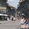 Pedestrian zone and shopping center.