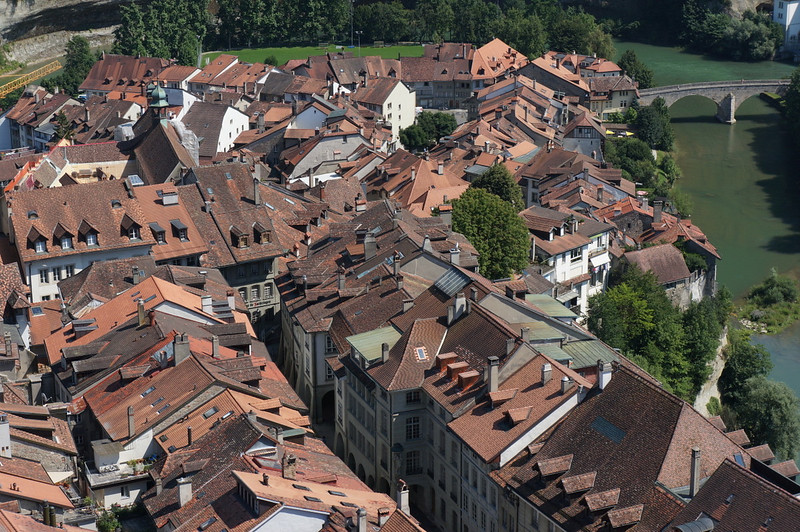Old city of Fribourg.