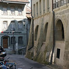 Arcades run through parts of the old city, quite similar to Bern.