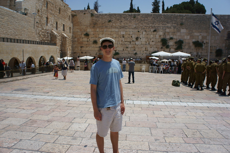 Elisha at the Western Wall.
