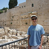 Elisha by the excavations completed at the south-west corner of the Temple mount.